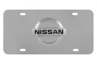 Pilot® - 3D Nissan Logo on Chrome License Plate