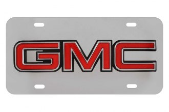 Pilot® - 3D GMC Logo on Chrome License Plate