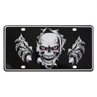 Pilot® - License Plate with Skull Logo