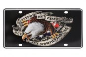 Pilot® - 3D USA Eagle Logo on Stamped Aluminum License Plate