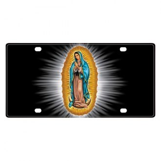 Pilot® - License Plate with Virgin Mary Logo