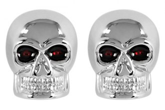 Pilot® - Chrome Skull License Plate Frame Bolts