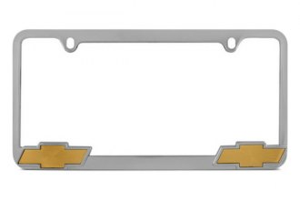 Pilot® - Chevy Logo on Chrome License Plate Frame