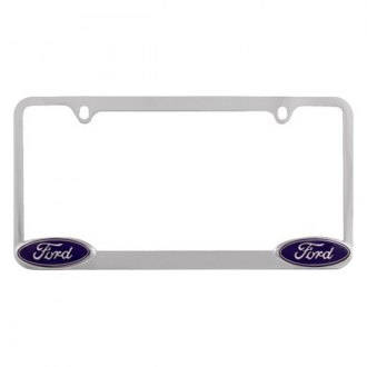 Pilot® - Ford Logo on Chrome License Plate Frame