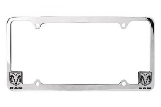 Pilot® - Dodge Logo on Chrome License Plate Frame