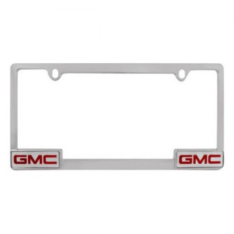 Pilot® - Chrome License Plate Frame with GMC Logo