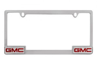 Pilot® - GMC Logo on Chrome License Plate Frame