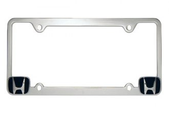 Pilot® - Honda Logo on Chrome License Plate Frame