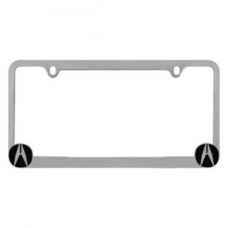 Pilot® - Chrome License Plate Frame with Acura Logo