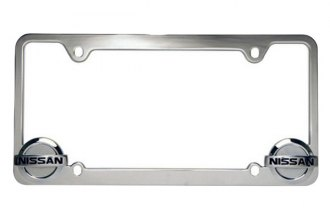 Pilot® - Nissan Logo on Chrome License Plate Frame