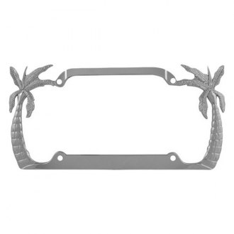 Pilot® - Chrome Palm Tree License Plate Frame