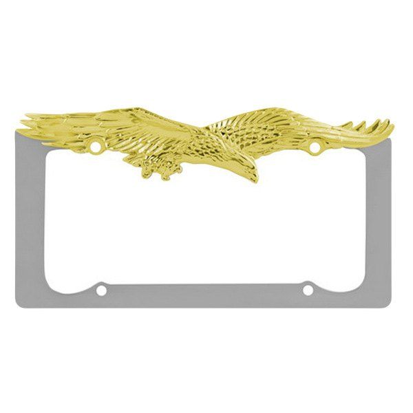 Pilot® - Chrome / Gold Eagle License Plate Frame