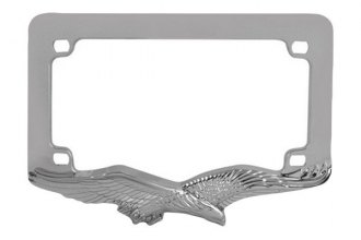 Pilot® - Chrome Motorcycle License Plate Frame