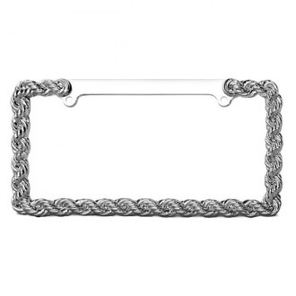 Pilot® - Chrome Braid License Plate Frame