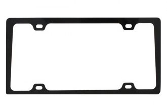 Pilot® - Black 4 Hole Mount Slim License Plate Frame