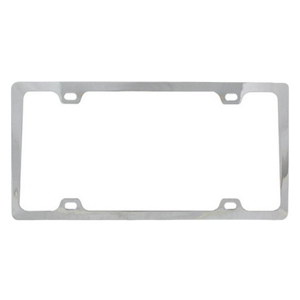 Pilot® - Chrome 4 Hole Mount Slim License Plate Frame