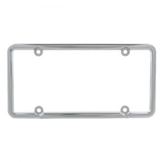 Pilot® - Chrome 4 Hole Mount Square Top License Plate Frame
