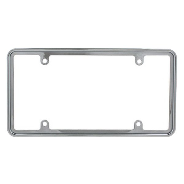 Pilot® - Chrome 4 Hole Mount Slim Channel License Plate Frame