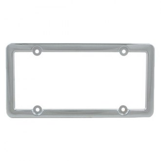 Pilot® - 4-Hole Mount Bulk Look Chrome License Plate Frame with Caps