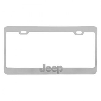 Pilot® - Chrome License Plate Frame with Jeep Logo