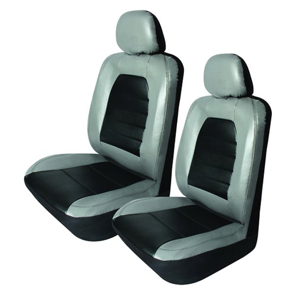 pilot sc 436g super sport synthetic leather gray with black seat covers. Black Bedroom Furniture Sets. Home Design Ideas