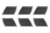 Pilot® - Chrome Side Vents with Black Mesh