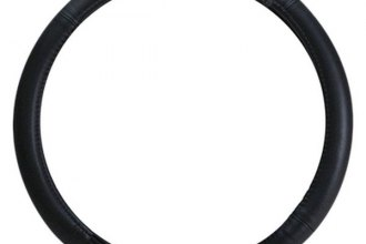 Pilot® SW-101 - Plain Black Genuine Leather Steering Wheel Cover