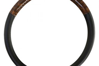 Pilot® - Wood Grain Steering Wheel Cover without Lace