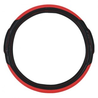 Pilot® - Racing Style Black with Red Insert Steering Wheel Cover