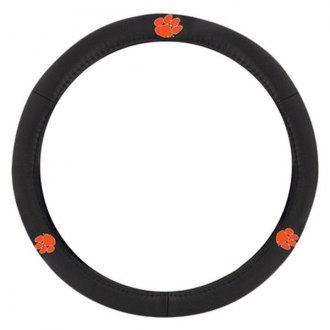 Pilot® - Leather Steering Wheel Cover with Clemson Logo