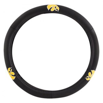Pilot® - Leather Steering Wheel Cover with Iowa Logo