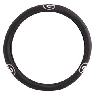Pilot® - Leather Steering Wheel Cover with Georgia Logo