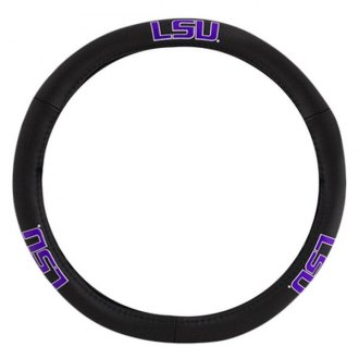 Pilot® - Leather Steering Wheel Cover with LSU Logo