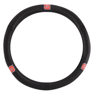 Pilot® - Leather Steering Wheel Cover with N. Carolina State Logo