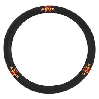 "Pilot® - Leather Steering Wheel Cover with College Iowa State New ""I"" Logo"