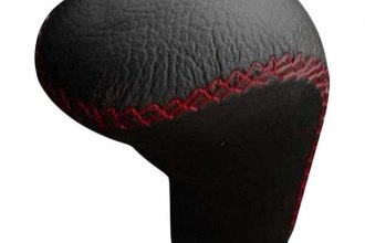 Pilot® PM-2251E - Black Leather with Red Stitch Manual Shift Knob