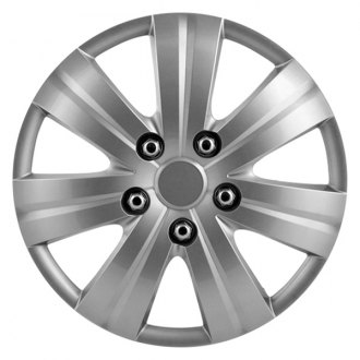 "Pilot® - 14"" Matte Silver 7 Spoke Wheel Covers"