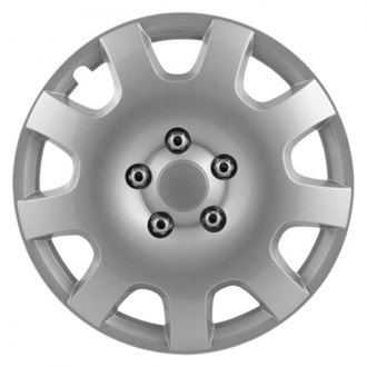 "Pilot® - 16"" Gear Silver 9 Spoke Wheel Covers"