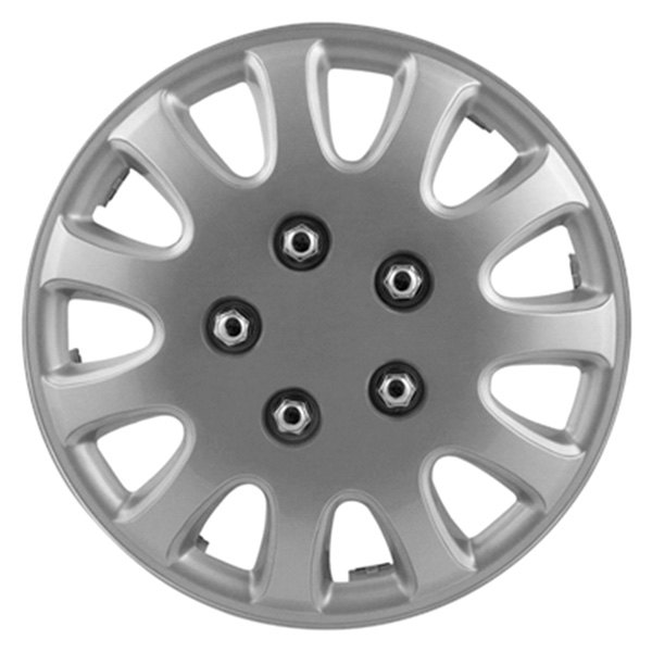 Pilot® - 5 Lug Silver Wheel Covers 15""