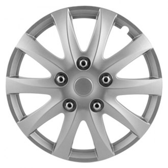 "Pilot® - 15"" 10 Spoke Camry Style Silver Wheel Covers"