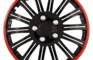 Pilot® - Cobra Black Chrome Wheel Covers with Red Accent