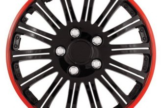 Pilot® - Cobra Black Chrome with Red Accent Wheel Covers 15""