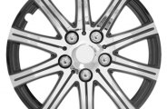 Pilot® - Stick Silver Wheel Covers with Black Accent
