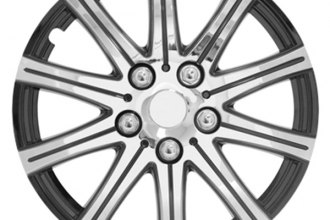 Pilot® - Stick Silver with Black Accent Wheel Covers 14""