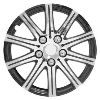Pilot® - Stick Silver with Black Accent Wheel Covers 15""