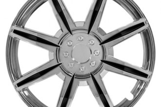 Pilot® - Chrome with Black Inserts Wheel Covers 14""