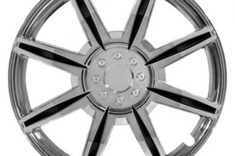 Pilot® - Chrome with Black Inserts Wheel Covers 15""