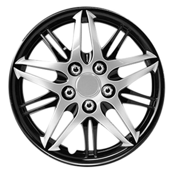 "Pilot® - 14"" Formula Performance Series Silver with Black Chrome Wheel Covers"