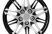 Pilot® - Formula Performance Series Silver Wheel Covers with Black Chrome