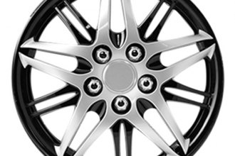 Pilot® - Formula Performance Series Silver with Black Chrome Wheel Covers 14""